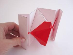 Origami kissing lips