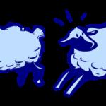Cotton wool sheep