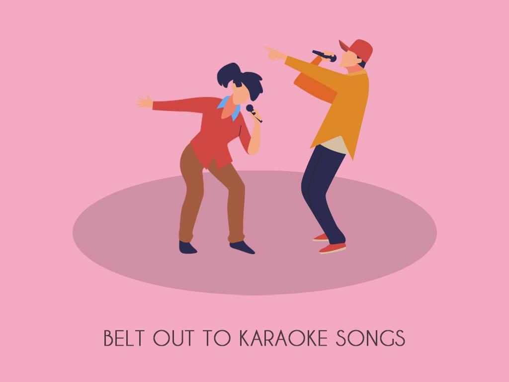 Belt Out To Karaoke Songs