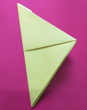 Triangle Shape- Paper boat making steps.